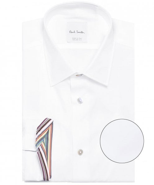 Paul Smith Slim Fit Plain Cotton Shirt