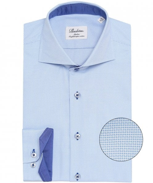 Stenstroms Slimline Micro Patterned Shirt