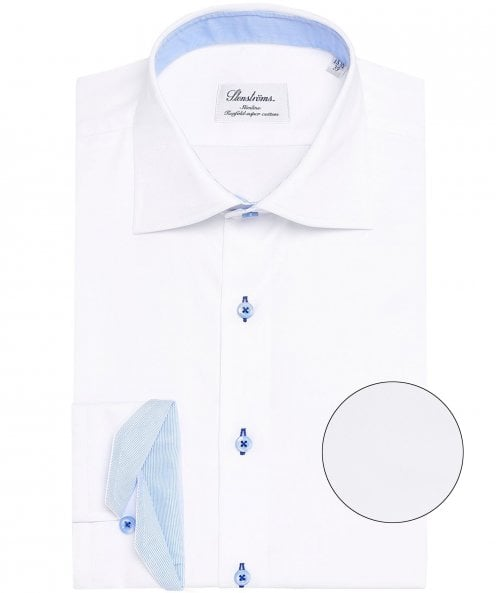 Stenstroms Fitted Body Stripe Trim Shirt