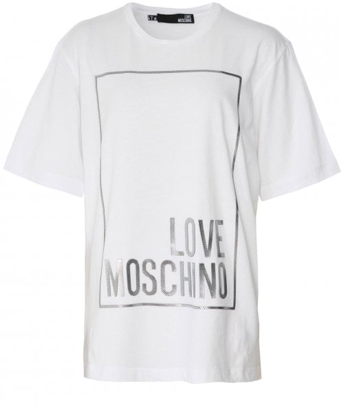 Moschino Love Moschino Metallic Outline Logo T-Shirt