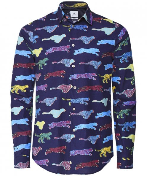 PS by Paul Smith Slim Fit Cheetah Print Shirt