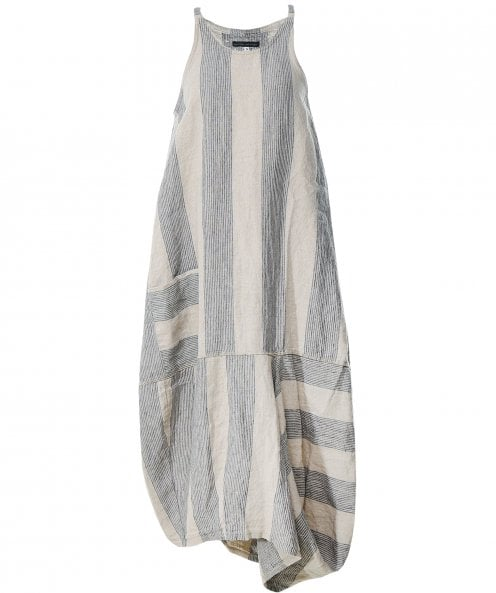 Lurdes Bergada Linen Linas Striped Dress