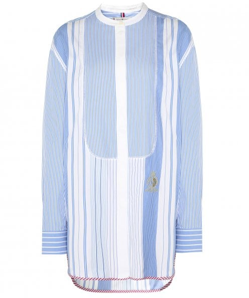 Tommy Hilfiger Felicity Patchwork Stripe Oversized Fit Shirt