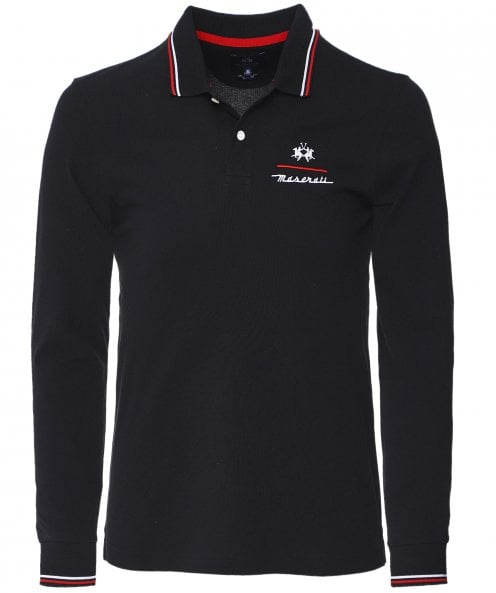La Martina Slim Fit Long Sleeve Oxalis Polo Shirt