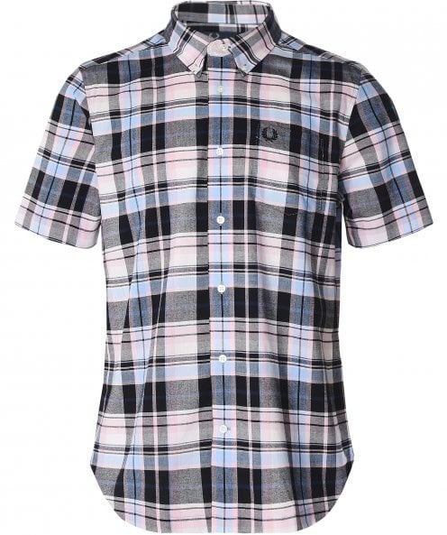 Fred Perry Black Madras Check Shirt M6532 D63