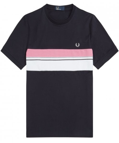 Fred Perry Striped Chest Panel T-Shirt M6518 608