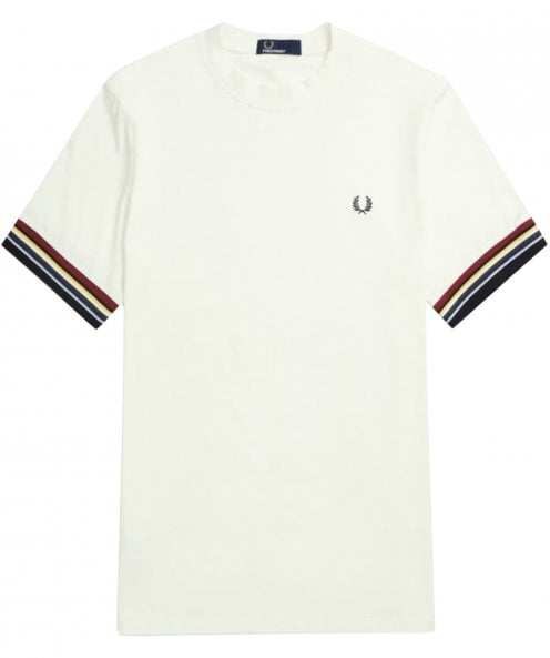 Fred Perry Striped Cuff T-Shirt M6528 129