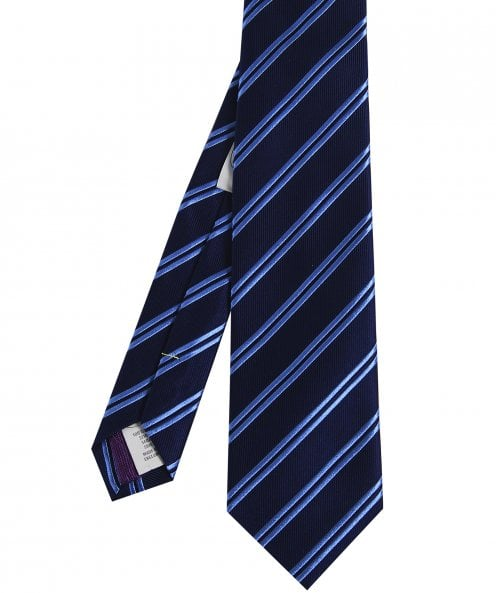 Eton Silk Double Stripe Tie