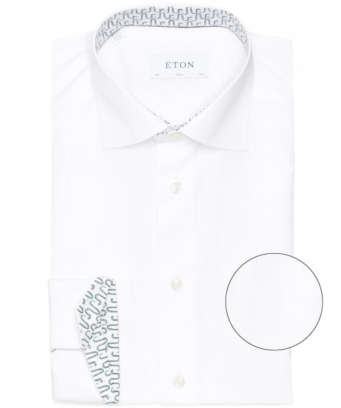 Eton Slim Fit Snake Trim Shirt