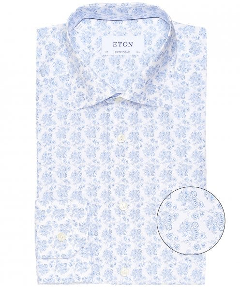 Eton Contemporary Fit Paisley Shirt