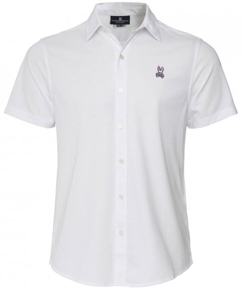 Psycho Bunny Short Sleeve Interlock Oxford Shirt