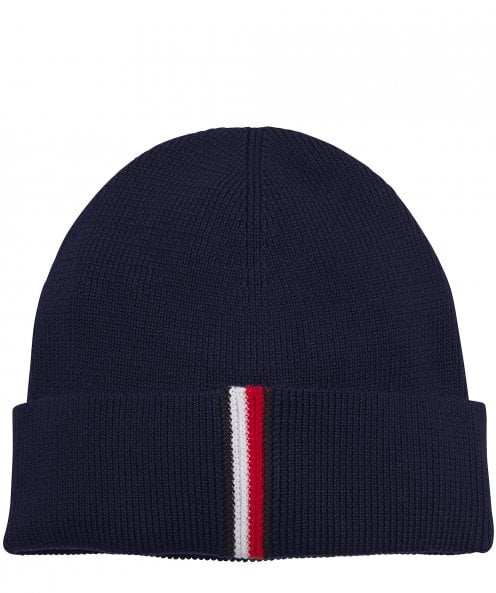 Tommy Hilfiger Cotton Ribbed Beanie Hat