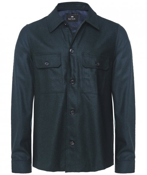 Paul Smith Wool Patch Pocket Overshirt