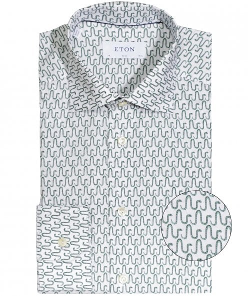 Eton Slim Fit Snake Print Shirt