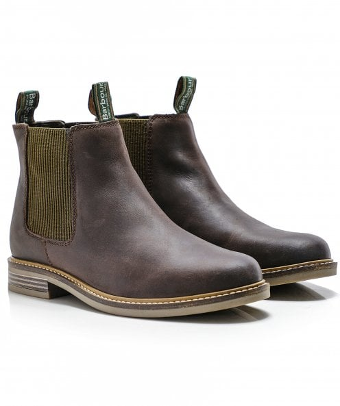 Barbour Leather Farsley Chelsea Boots