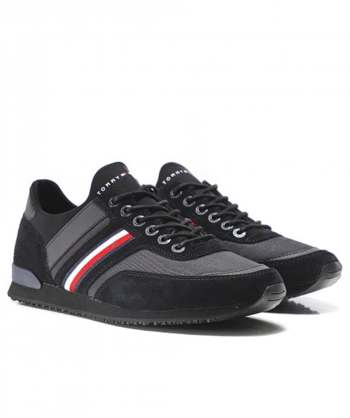 Tommy Hilfiger Suede Trim Iconic Sock Trainers