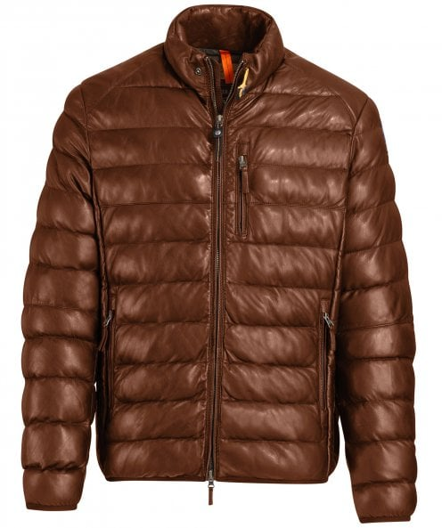 Parajumpers Waxed Leather Padded Ernie Jacket