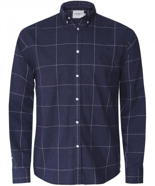 Les Deux Brushed Cotton Check Desert Shirt