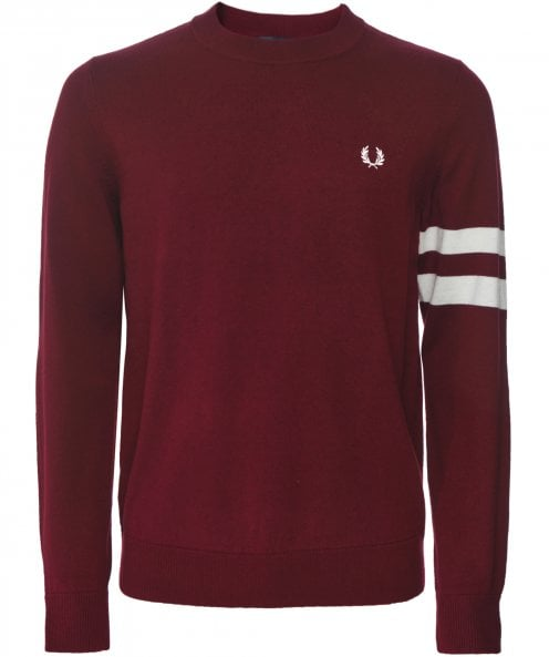 Fred Perry Crew Neck Tipped Sleeve Jumper K7505 E99