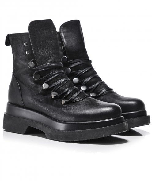Lofina Bremba Leather Lace Up Boots