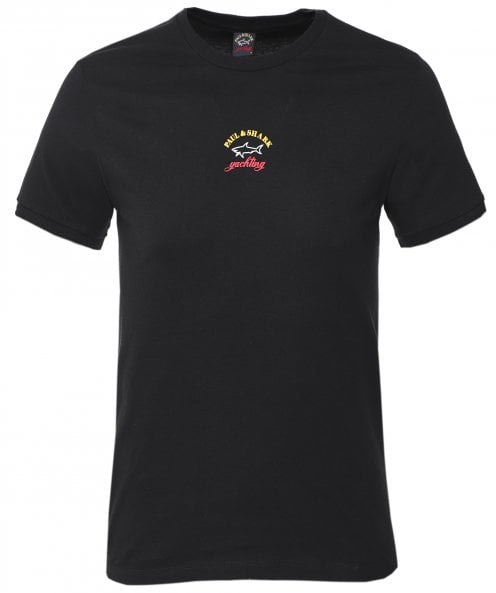 Paul and Shark Crew Neck Logo T-Shirt