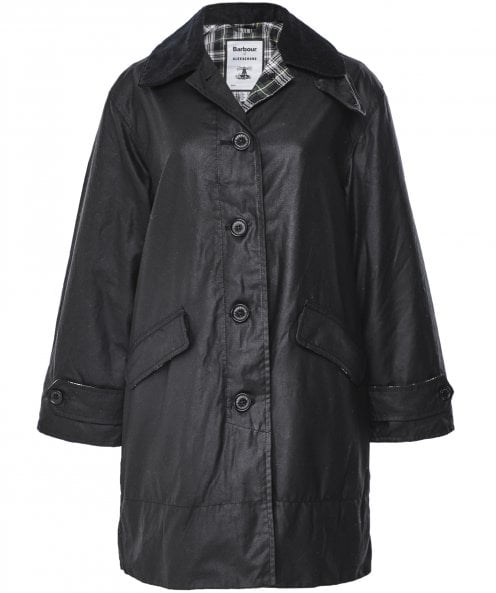 Barbour ALEXACHUNG Cropped Maisie Waxed Cotton Coat
