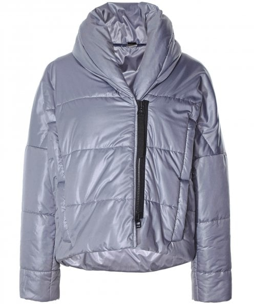 Crea Concept Padded Jacket with Oversized Collar