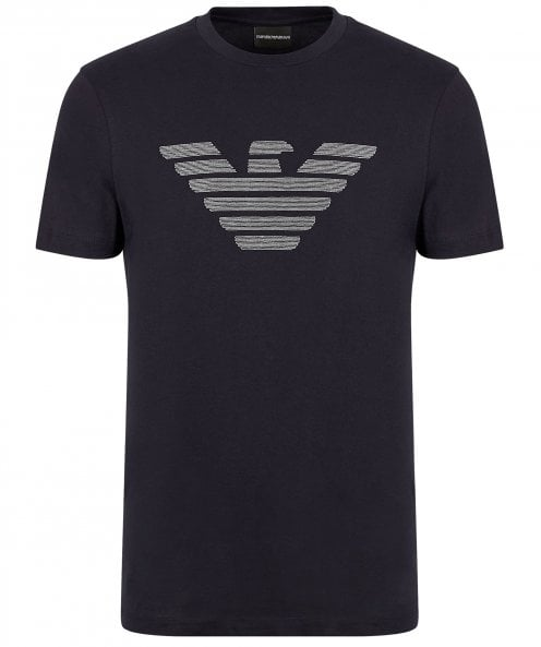 Armani Crew Neck Embroidered Logo T-Shirt