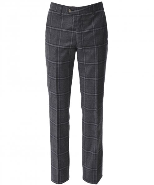 MMX Slim Fit Wool Check Lupus Trousers