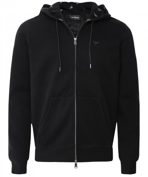 Armani Zip-Through Fleece Hoodie