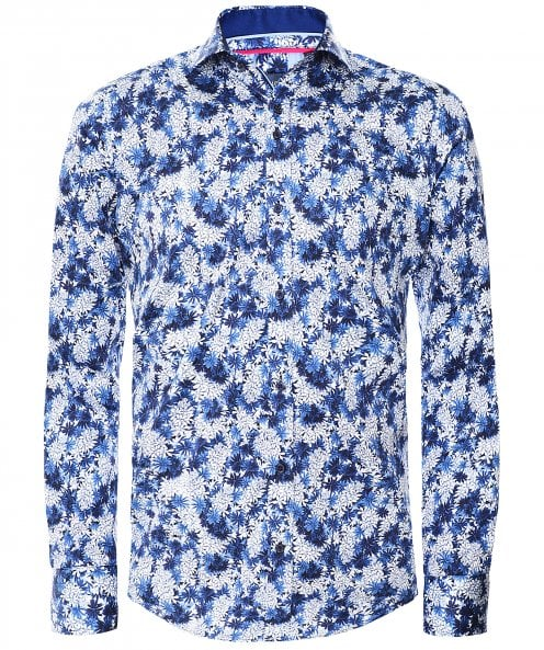 Guide London Slim Fit Floral Print Shirt