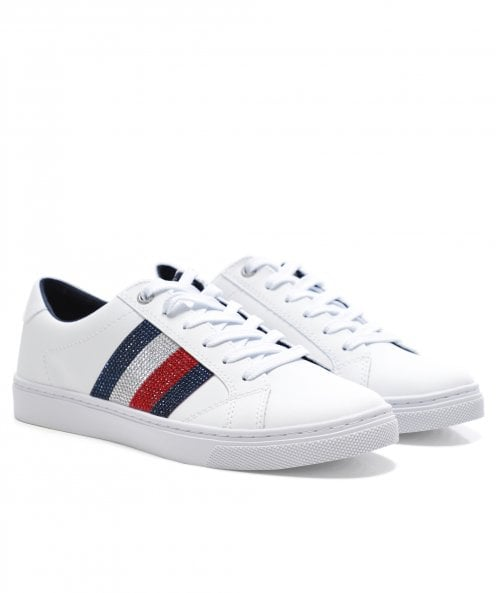 Tommy Hilfiger Classic Crystal Leather Trainers