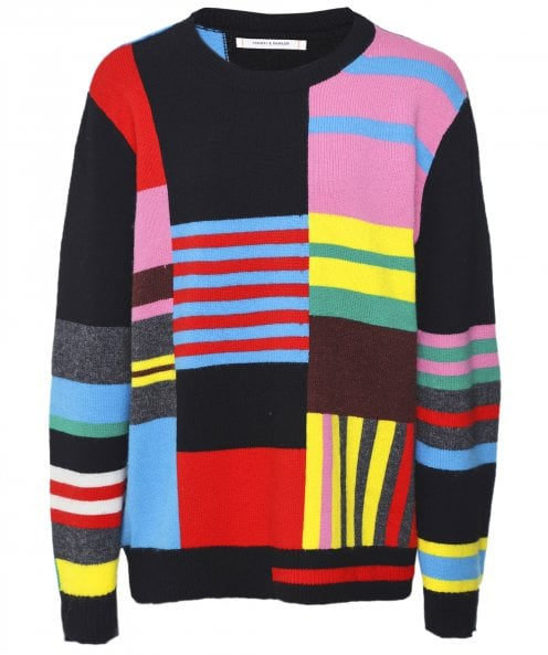Chinti and Parker Wool & Cashmere Eccentric Patchwork Jumper