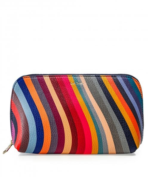 Paul Smith Swirl Print Leather Make-Up Pouch