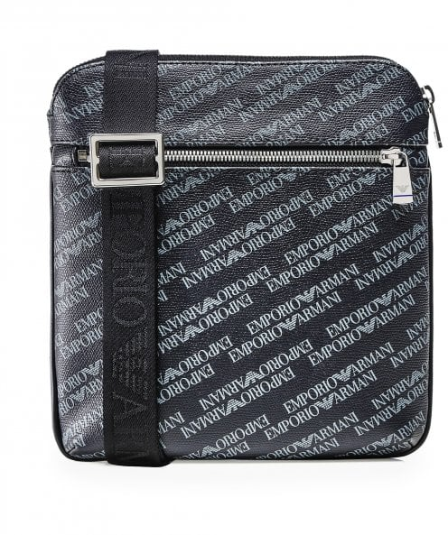 Armani Small Logo Print Messenger Bag