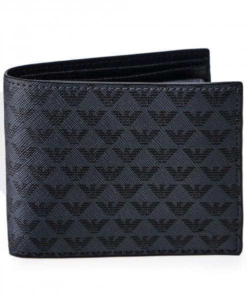 Armani Faux Leather Bifold Coin Wallet