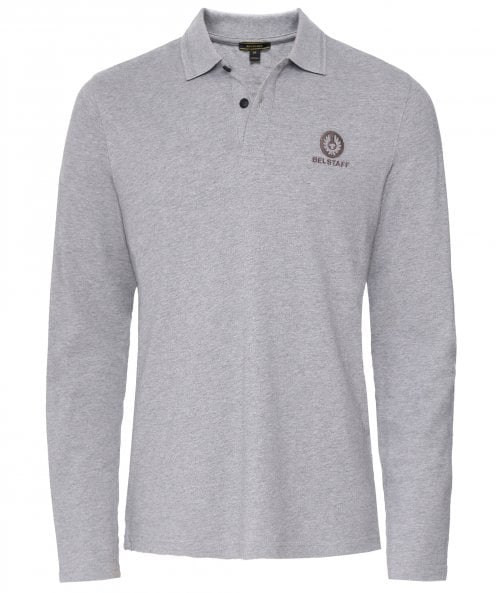 Belstaff Pique Cotton Long Sleeve Polo Shirt