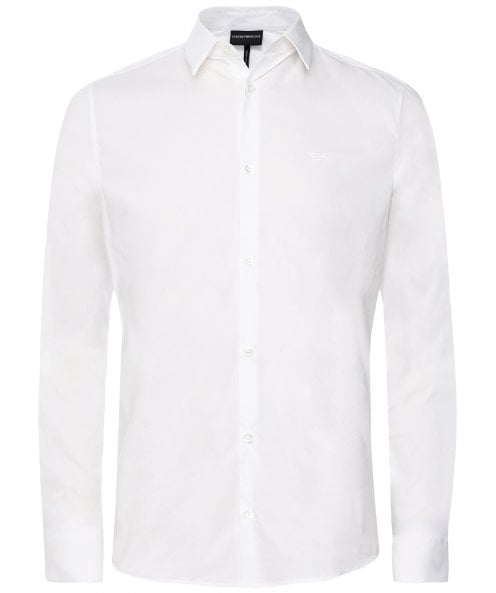 Armani Stretch Cotton Poplin Shirt