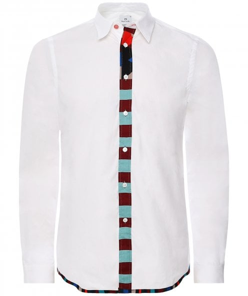 PS by Paul Smith Tailored Fit Placket Stripe Shirt