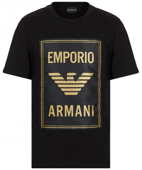 Armani Crew Neck Maxi Patch Logo T-Shirt