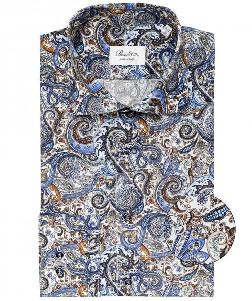 Stenstroms Fitted Body Paisley Shirt
