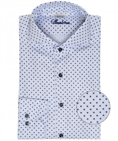 Stenstroms Fitted Body Daisy Houndstooth Shirt
