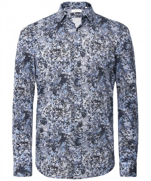 Baldessarini Cotton Pique Abstract Shirt