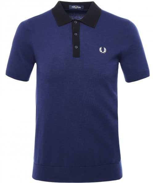Fred Perry Tonal Knitted Polo Shirt K7506 143