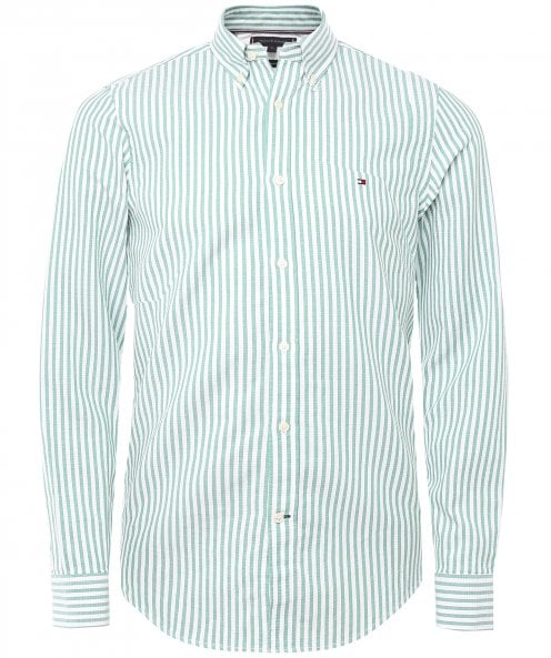 Tommy Hilfiger Slim Fit Textured Striped Shirt