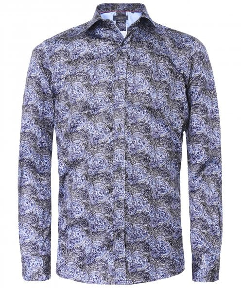 Guide London Slim Fit Abstract Print Shirt