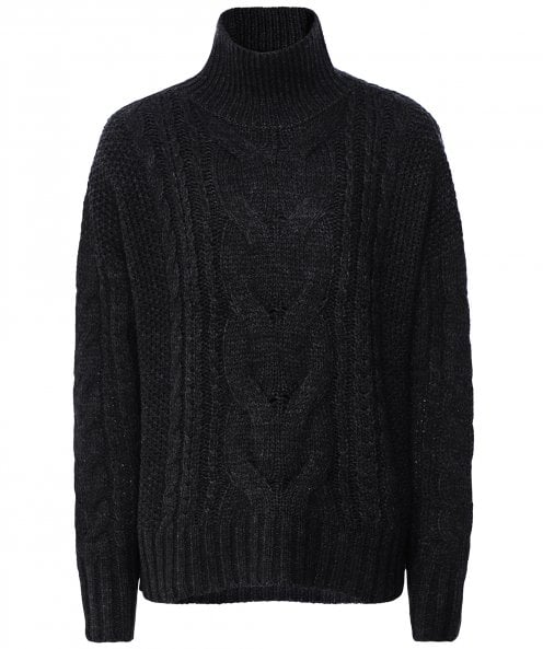 360 Cashmere Alexia Merino Wool Blend Cable Knit Jumper