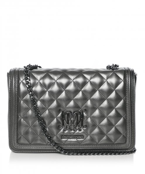 Moschino Love Moschino Quilted Logo Shoulder Bag
