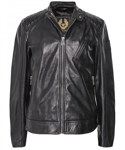 Belstaff Leather V Racer Jacket