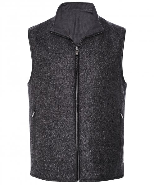 Corneliani Reversible Tweed Gilet